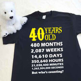 Your Age or Birthday Calculated Adult Shirt