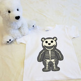 Skeleton Puddles Shirt in Baby and Toddler Sizes