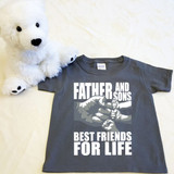 A Father and Sons (3 Fist bumps) Best Friends for Life Shirt in Baby and Toddler Sizes