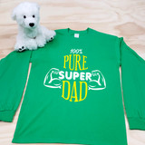 100% Super Dad Adult Long Sleeve Shirt
