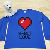 8-Bit Love Adult Long Sleeve shirt