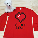8-Bit Love Youth Long Sleeve Shirt