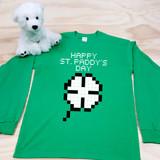 8-Bit Shamrock Adult Long Sleeve Shirt