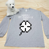 8-Bit Shamrock Youth Long Sleeve Shirt