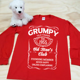 "Grumpy Old Timer Club Established ""Your Year"" Adult Long Sleeve Shirt"