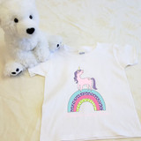 Unicorn Rainbow Shirt in Baby and Toddler Sizes