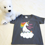 Unicorn Magical Cloud Shirt in Baby and Toddler Sizes