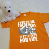 A Father and Sons (2 Fist bumps) Best Friends for Life Youth Shirt