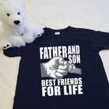 Father and Son (1 Fist bump) Best Friends for Life Youth Shirt