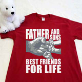 A Father and Sons (3 Fist bumps) Best Friends for Life Adult Shirt