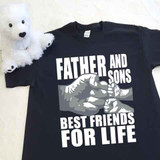 A Father and Sons (2 Fist bumps) Best Friends for Life Adult Shirt