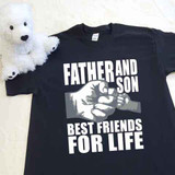 Father and Son (1 Fist bump) Best Friends for Life Adult Shirt