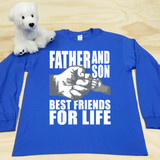 Father and Son (1 Fist bump) Best Friends for Life Adult Long Sleeve Shirt
