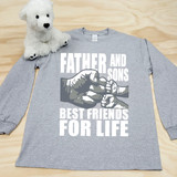 Father and Sons (2 Fist bumps) Best Friends for Life Adult Long Sleeve Shirt