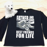 A Father and Sons (3 Fist bumps) Best Friends for Life Adult Long Sleeve Shirt