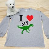 I Love My Velociraptor Adult Long Sleeve Shirt
