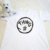 white thing themed adult shirt