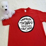 red customizable thing themed adult shirt