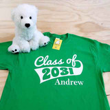 Class of Shirt Flag with Year and Name Youth Shirt