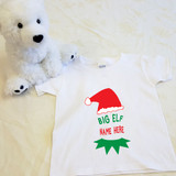 Christmas Big Elf Shirt in Baby and Toddler Sizes