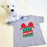 Christmas Present Shirt in Baby and Toddler Sizes