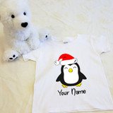 Christmas Penguin Shirt in Baby and Toddler Sizes