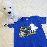 Four and Fabulous Horse Shirt in Baby and Toddler Sizes