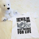 A Father and Twins Best Friends for Life Shirt in Baby and Toddler Sizes