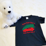 Christmas Sedan with Family Name Shirt in Baby and Toddler Sizes