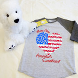 America's Sweetheart Butterflies Heart Toddler Raglan 3/4 sleeves