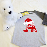 Christmas Letters Toddler Raglan 3/4 sleeves