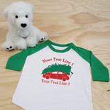 Christmas Sedan with Family Name Toddler Raglan 3/4 sleeves