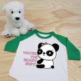 You're The Beary Best Panda Toddler Raglan 3/4 Sleeves