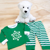 Snowflake with Initial Pajamas in Baby and Toddler Sizes