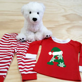 Christmas Letters Pajamas in Baby and Toddler Sizes