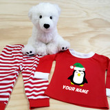 Christmas Penguin Pajamas in Baby and Toddler Sizes