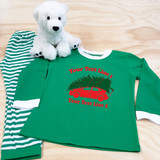 Christmas Sedan with Family Name Pajamas in Baby and Toddler Sizes