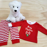 Merry Christmas with Year Pajamas in Baby and Toddler Sizes