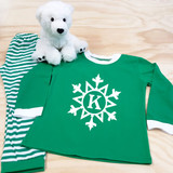 Snowflake with Initial Youth Pajamas