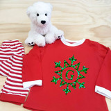 Glitter Snowflake with Initial Youth Pajamas