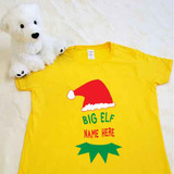 Christmas Big Elf Ladies Fitted Shirt