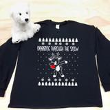 dabbing reindeer black kids long sleeve shirt