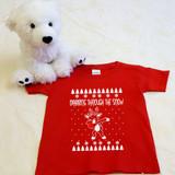dabbing reindeer red toddler shirt