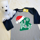 Christmas Letters Youth Raglan 3/4 Sleeve
