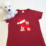 Christmas Letters Ladies Fitted Shirt