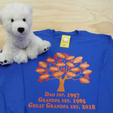 Family Tree  in Color for Men Adult Crew Neck Sweatshirt