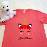 Unicorn Heart Crown Adult Shirt