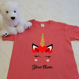 Unicorn Heart Crown Youth Shirt
