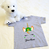 St. Patrick's Day Unicorn with Hat Shirt in Baby and Toddler Sizes