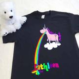 Barfing Unicorn Adult Shirt